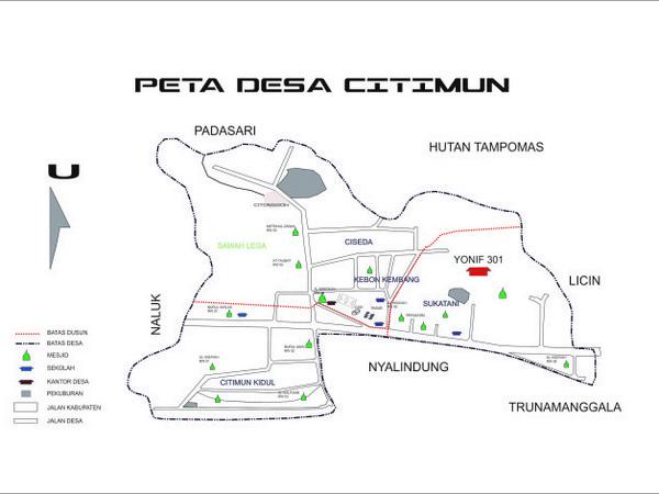 Peta wilayah Desa Citimun (gambar: Desa Citimun)