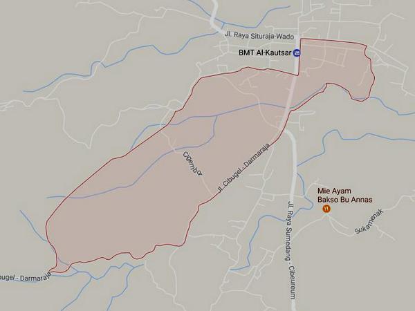 Peta wilayah Desa Darmajaya (gambar: Google Maps)