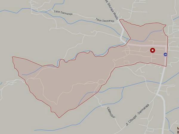 Peta wilayah Desa Darmaraja (gambar: Google Maps)