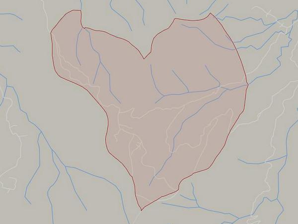 Peta wilayah Desa Dayeuh Luhur (gambar: Google Maps)