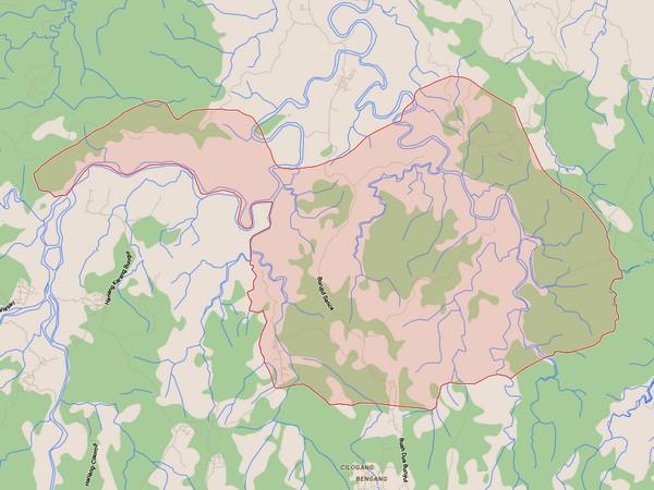 Peta Desa Gendereh (gambar Google Maps)