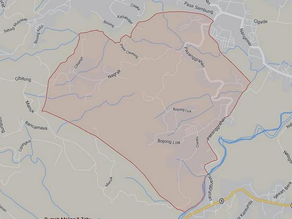 Peta wilayah Desa Girimukti (gambar: Google Maps)