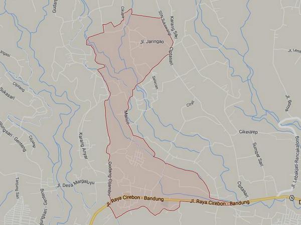 Peta wilayah Desa Gudang (gambar: Google Maps)