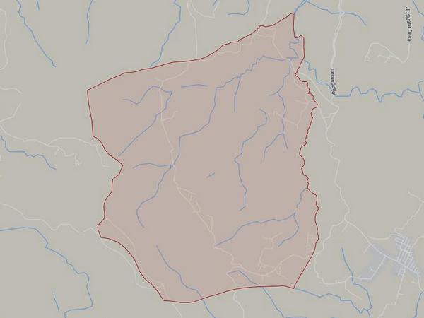 Peta wilayah Desa Gunturmekar (gambar: Google Maps)