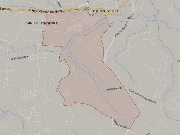 Peta wilayah Desa Gunungmanik (gambar: Google Maps)