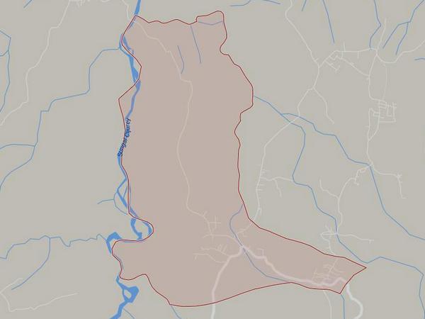Peta wilayah Desa Hariang (gambar: Google Maps)