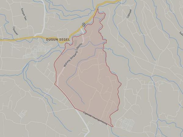 Peta wilayah Desa Haurngombong (gambar: Google Maps)