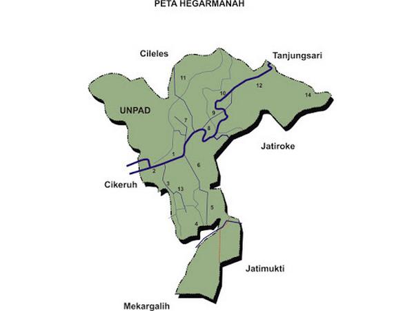 Peta wilayah Desa Hegarmanah (gambar: Desa Hegarmanah)