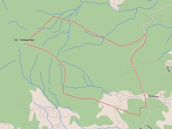 Peta wilayah Desa Jambu (diolah dari Google Maps)
