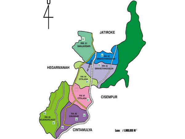 Peta wilayah Desa Jatimukti (gambar: Desa Jatimukti)