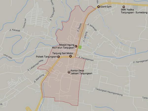 Peta wilayah Desa Jatisari (gambar: Google Maps)