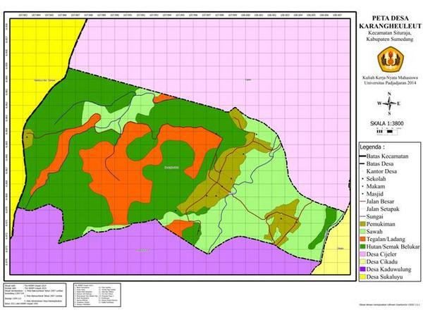 Peta wilayah Desa Karangheuleut (gambar: KKNM Unpad Karangheuleut)