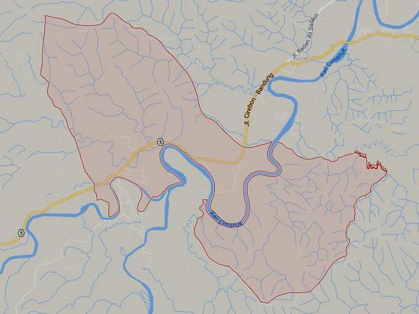 Peta wilayah Desa Karyamukti (gambar: Google Maps)