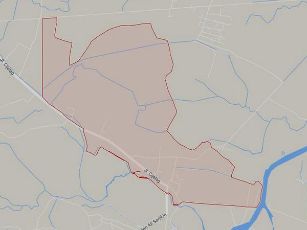Peta wilayah Desa Kebon Cau (gambar: Google Maps)