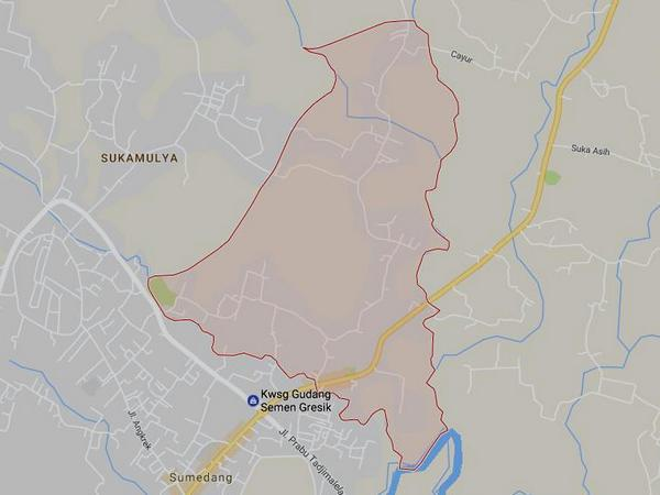 Peta wilayah Desa Kebonjati (gambar: Google Maps)
