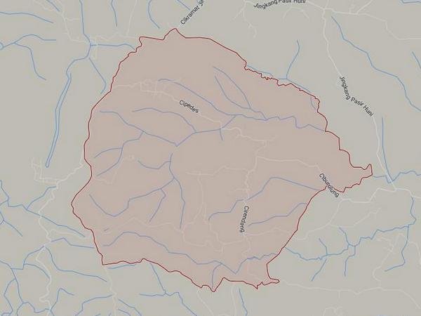 Peta wilayah Desa Kertamukti (gambar: Google Maps)