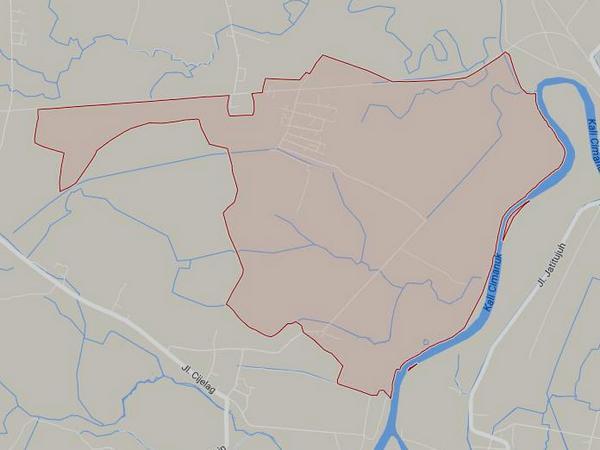 Peta wilayah Desa Kudangwangi (gambar: Google Maps)