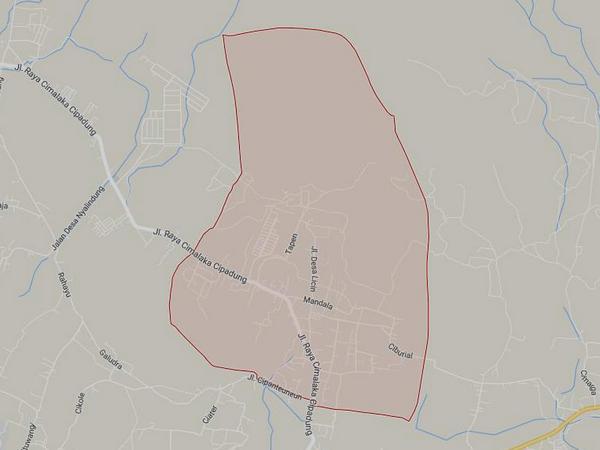 Peta wilayah Desa Licin (gambar: Google Maps)