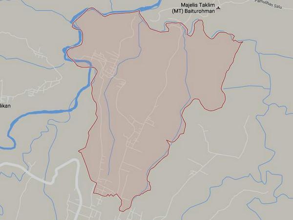 Peta wilayah Desa Malaka (gambar: Google Maps)