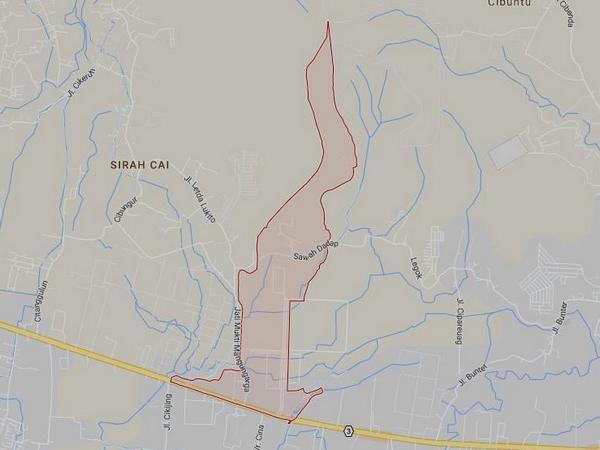 Peta wilayah Desa Mangunarga (gambar: Google Maps)