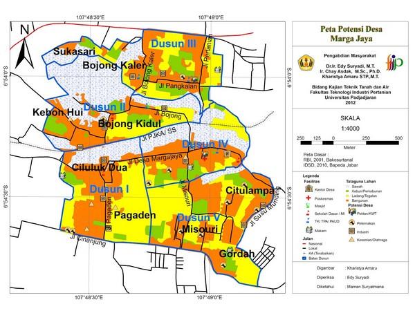 Peta wilayah Desa Margajaya (gambar: Desa Margajaya Weblog)