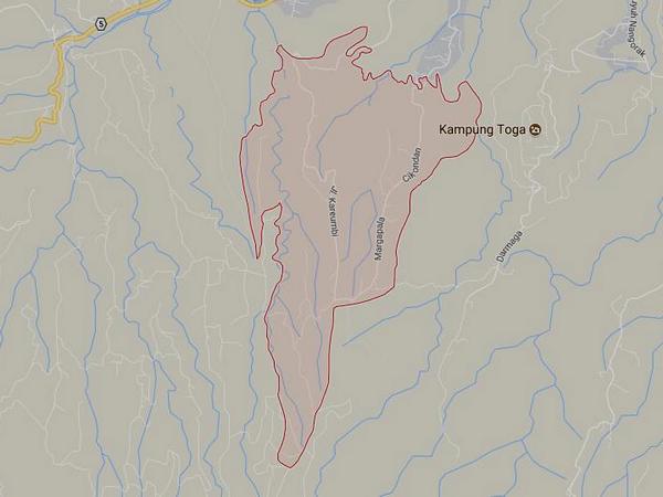 Peta wilayah Desa Margalaksana (gambar: Google Maps)