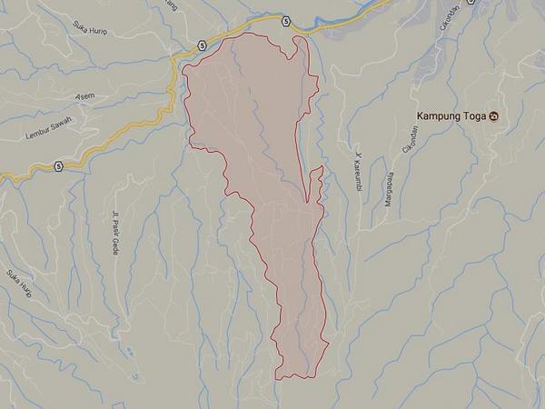 Peta wilayah Desa Mekar Rahayu (gambar: Google Maps)