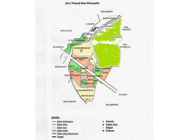 Peta wilayah Desa Mekargalih (gambar: Desa Mekargalih)