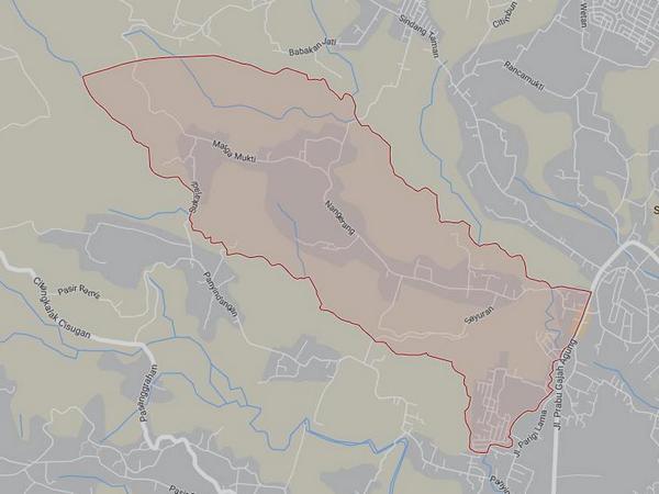Peta wilayah Desa Mekarjaya (gambar: Google Maps)