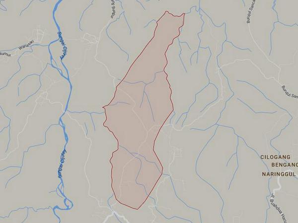 Peta wilayah Desa Mekarmukti (gambar: Google Maps)