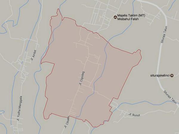 Peta wilayah Desa Mekarmulya (gambar: Google Maps)