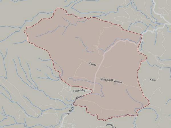 Peta wilayah Desa Nagarawangi (gambar: Google Maps)