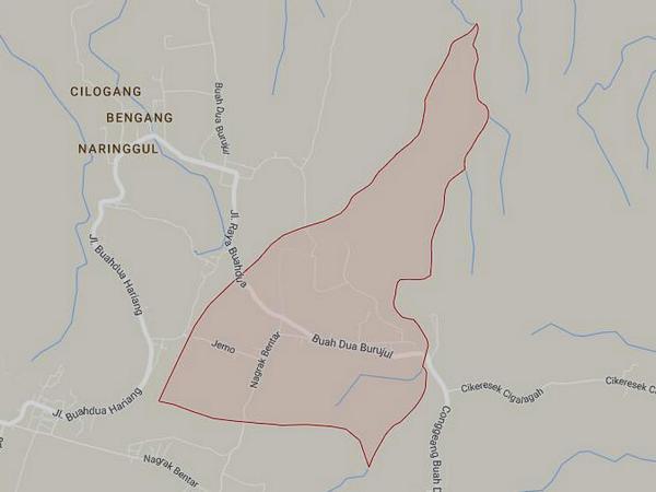 Peta wilayah Desa Nagrak (gambar: Google Maps)
