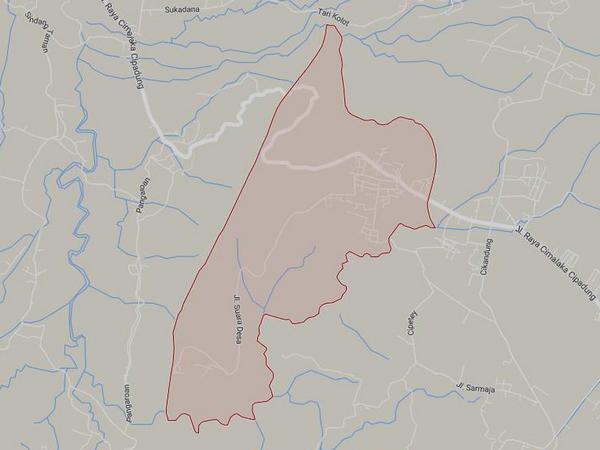 Peta wilayah Desa Naluk (gambar: Google Maps)