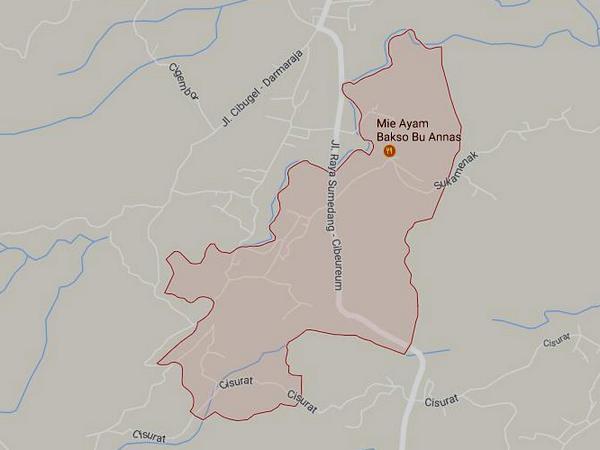 Peta wilayah Desa Neglasari (gambar: Google Maps)