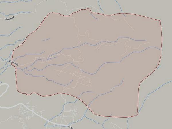 Peta wilayah Desa Padasari (gambar: Google Maps)