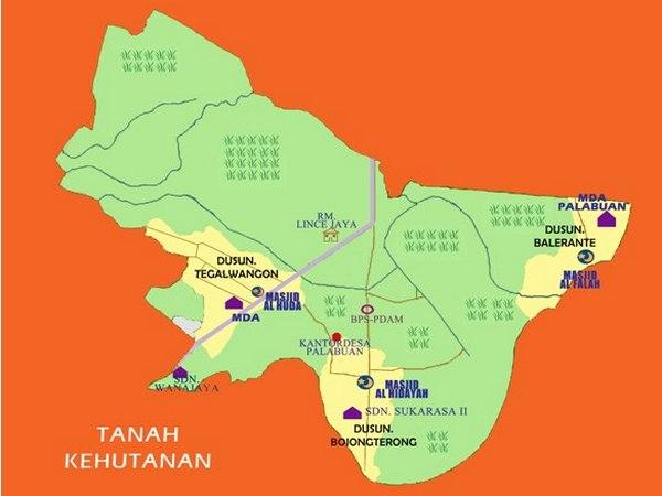 Peta wilayah Desa Palabuan (gambar: KKNM Unpad)