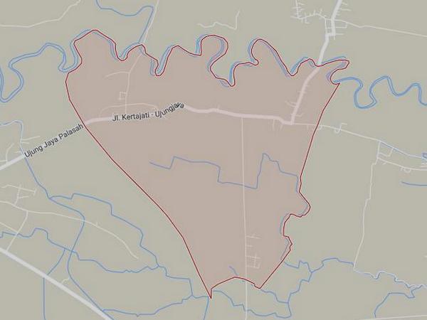 Peta wilayah Desa Palasari (gambar: Google Maps)