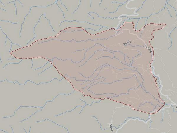 Peta wilayah Desa Pangadegan (gambar: Google Maps)