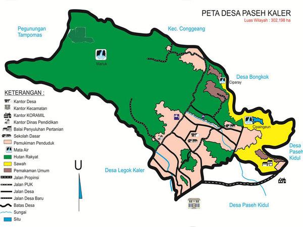 Peta wilayah Desa Paseh Kaler (gambar: KKNM Unpad)