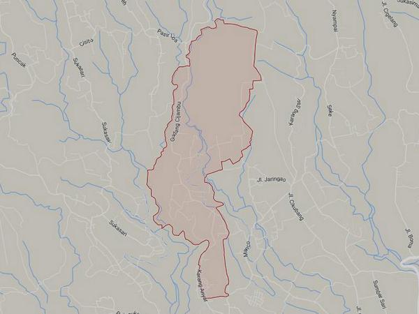 Peta wilayah Desa Pasigaran (gambar: Google Maps)