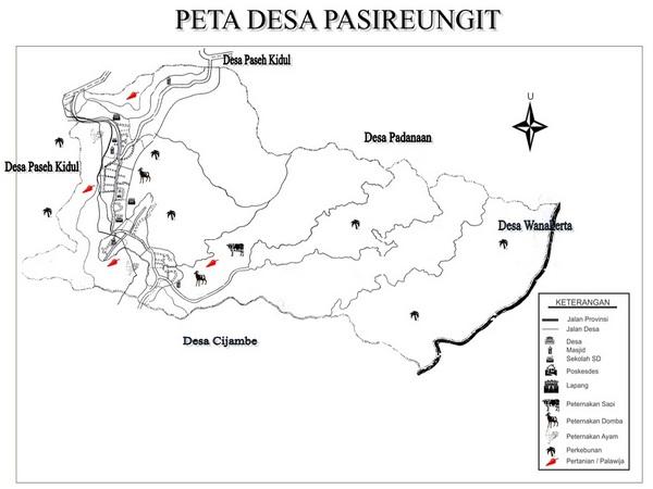 Peta Desa Pasireungit (gambar: Desa Pasireungit)