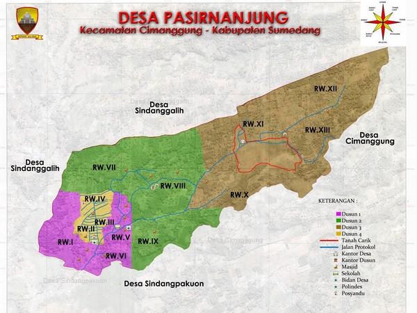 Peta wilayah Desa Pasirnanjung (gambar: Desa Pasirnanjung)