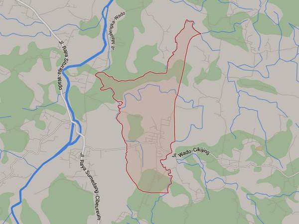 Peta wilayah Desa Pawenang (gambar dari Google Maps)