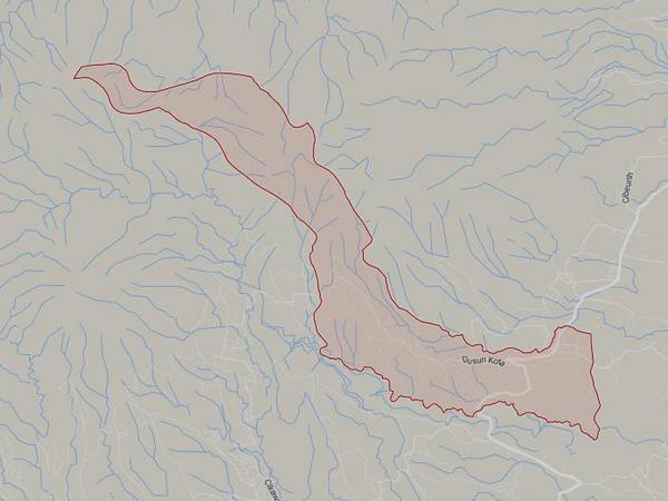 Peta wilayah Desa Rancakalong (gambar: Google Maps)