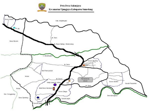 Peta wilayah Desa Sakurjaya (gambar: Desa Sakurjaya)
