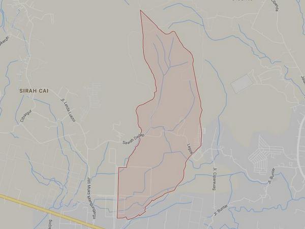 Peta wilayah Desa Sawahdadap (Google Maps)