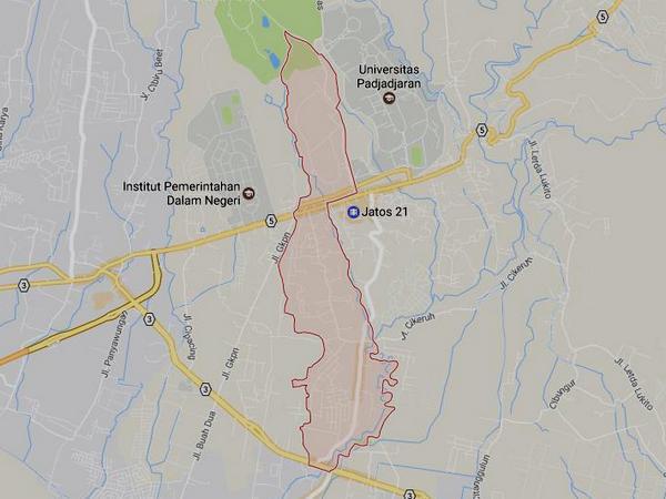Peta wilayah Desa Sayang (gambar: Google Maps)