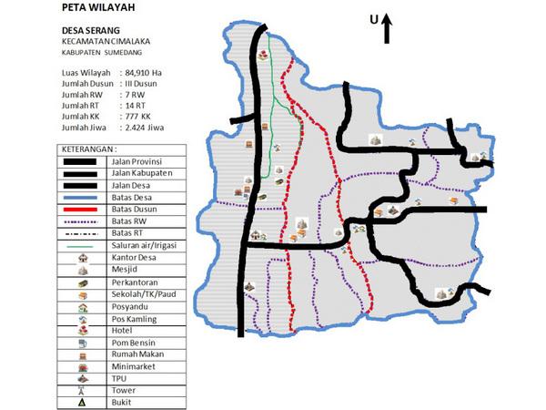 Peta wilayah Desa Serang (gambar: Desa Serang)