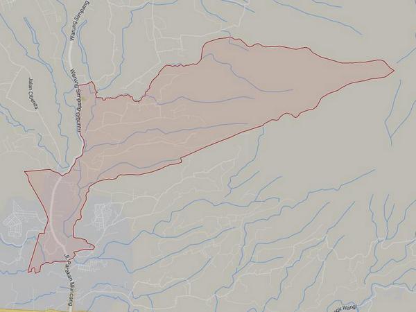 Peta wilayah Desa Sindanggalih (gambar: Google Maps)